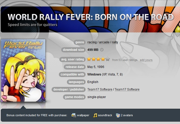 World Rally Fever: Born on the Road ( GOG.COM Key )