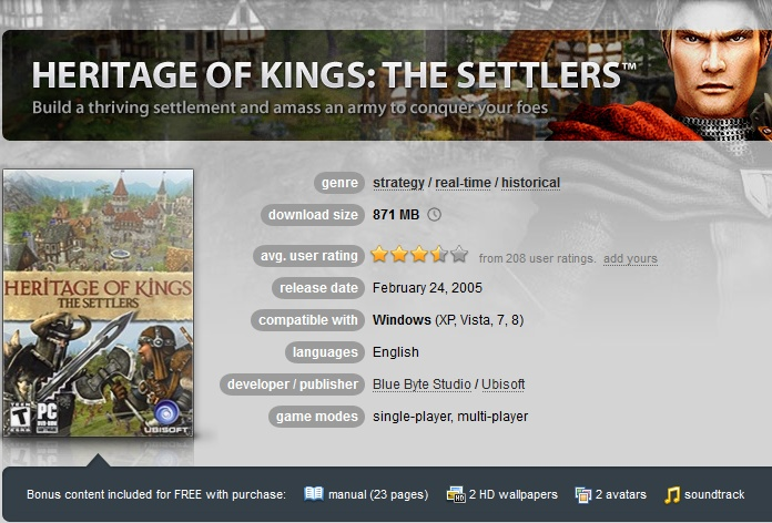 Heritage of Kings: The Settlers ( GOG.COM Key )