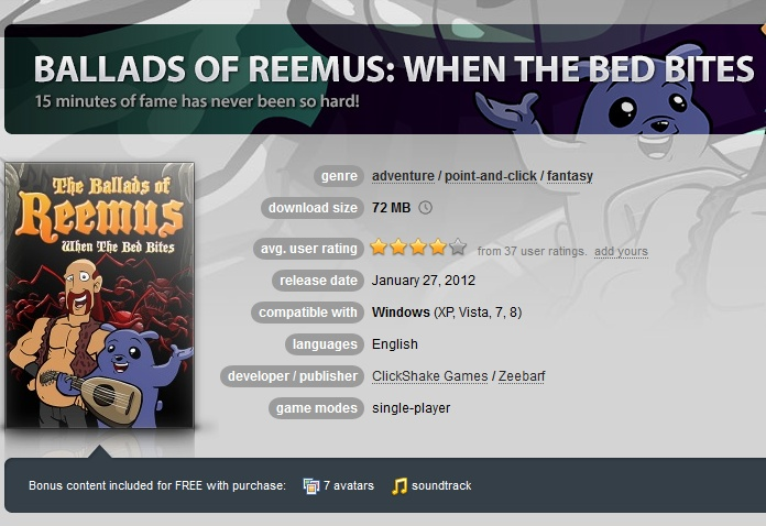 The Ballads of Reemus: When The Bed Bites (GOG.COM Key)