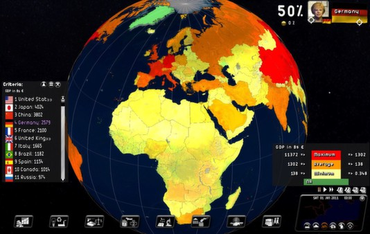 Rulers Of Nations. Geo-Political Simulator 2 STEAM KEY