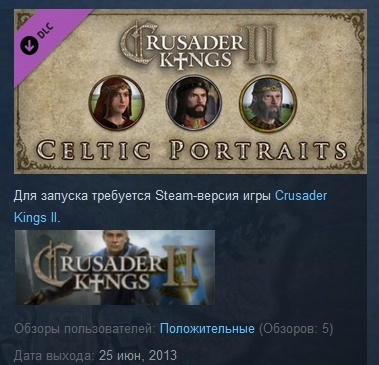 Crusader Kings II: Celtic Portraits  ( STEAM GIFT ROW )