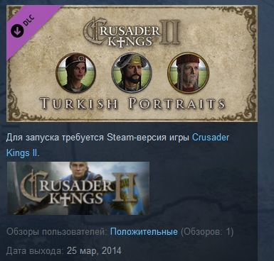 Crusader Kings II: Turkish Portraits ( STEAM GIFT )