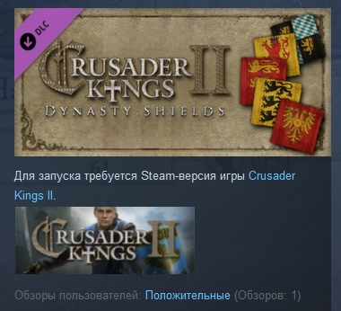 Crusader Kings II: Dynasty Shields ( STEAM GIFT ROW )