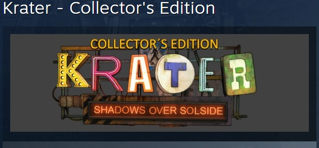 Krater - Collector´s Edition STEAM KEY REGION FREE ROW