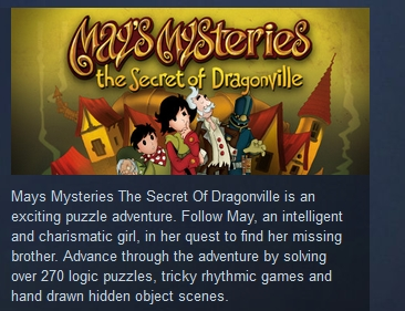 May's Mysteries: The Secret of Dragonville ( STEAM KEY)