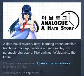 Analogue: A Hate Story Game and Soundtrack Bundle STEAM