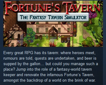 Fortune´s Tavern - The Fantasy Tavern Simulator STEAM