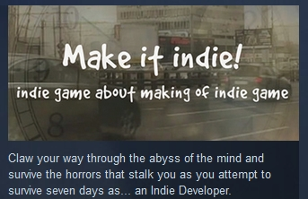 Make it indie! ( Steam Key / Region Free ) GLOBAL ROW