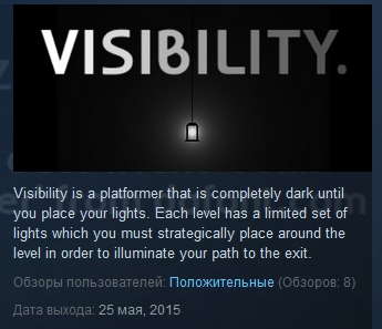 Visibility ( Steam Key / Region Free ) GLOBAL ROW