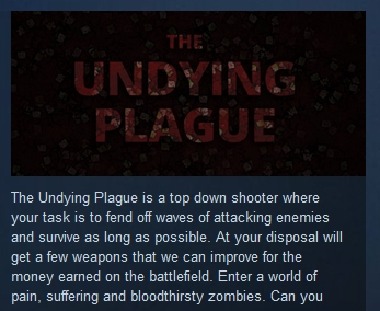 The Undying Plague  ( Steam Key / Region Free )