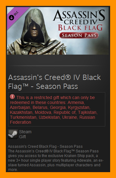 Assassin´s Creed Black Flag Season Pass (Steam Gift RU)