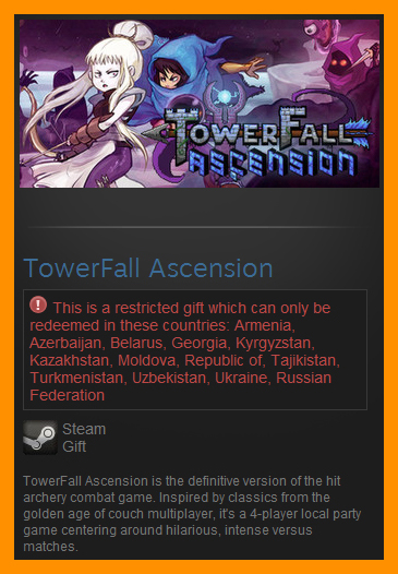 TowerFall Ascension (Steam Gift / RU CIS)