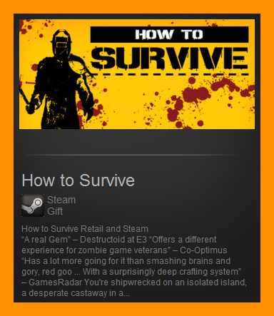 How to Survive (Steam Gift / Region Free)