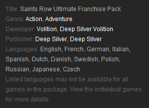 Saints Row Ultimate Franchise Pack (Steam Gift /RU CIS)