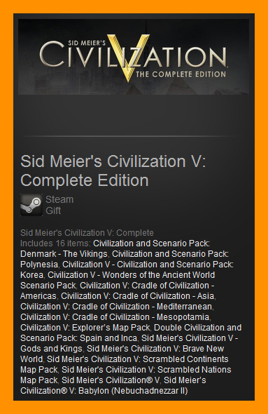 Sid Meier´s Civilization V: Complete (Steam Gift / ROW)