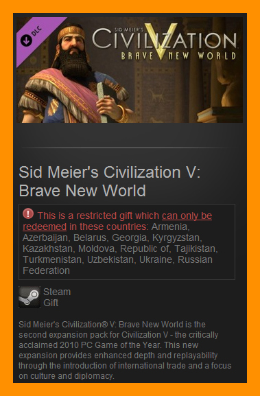 Civilization V: Brave New World (Steam Gift / RU CIS)