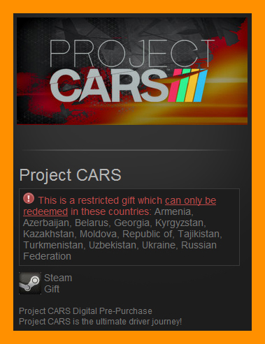 Project CARS Digital PrePurchase (Steam Gift / RU CIS)
