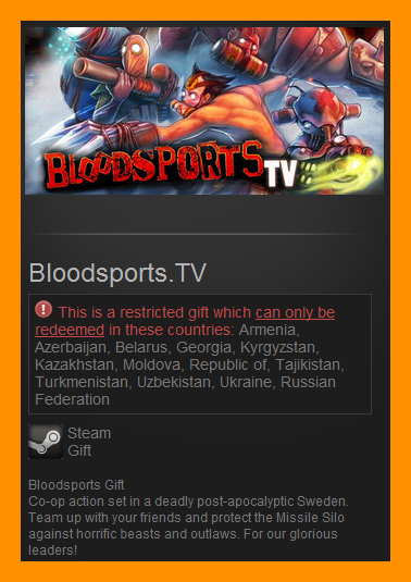 Bloodsports.TV (Steam Gift / RU CIS)