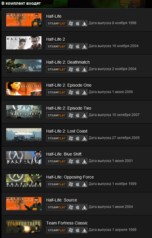Half-Life Complete (Steam Gift / RU CIS) 10 games