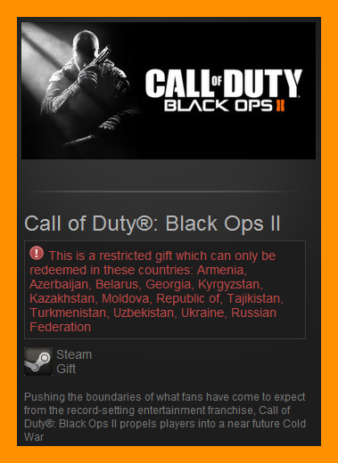 Call of Duty: Black Ops II 2 (Steam Gift / RU CIS)