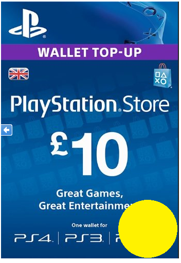 PSN Gift Card Code UK £10 GBP for PS4, PS3, PS Vit