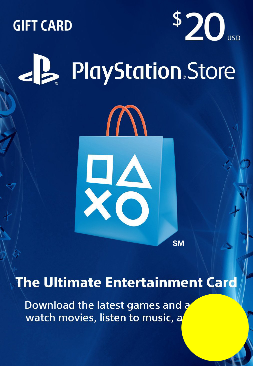 PSN Gift Card Code USA $20 PS4, PS3, PS Vita