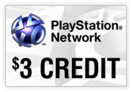 PSN Gift Card Code USA $3 PS4, PS3, PS Vita
