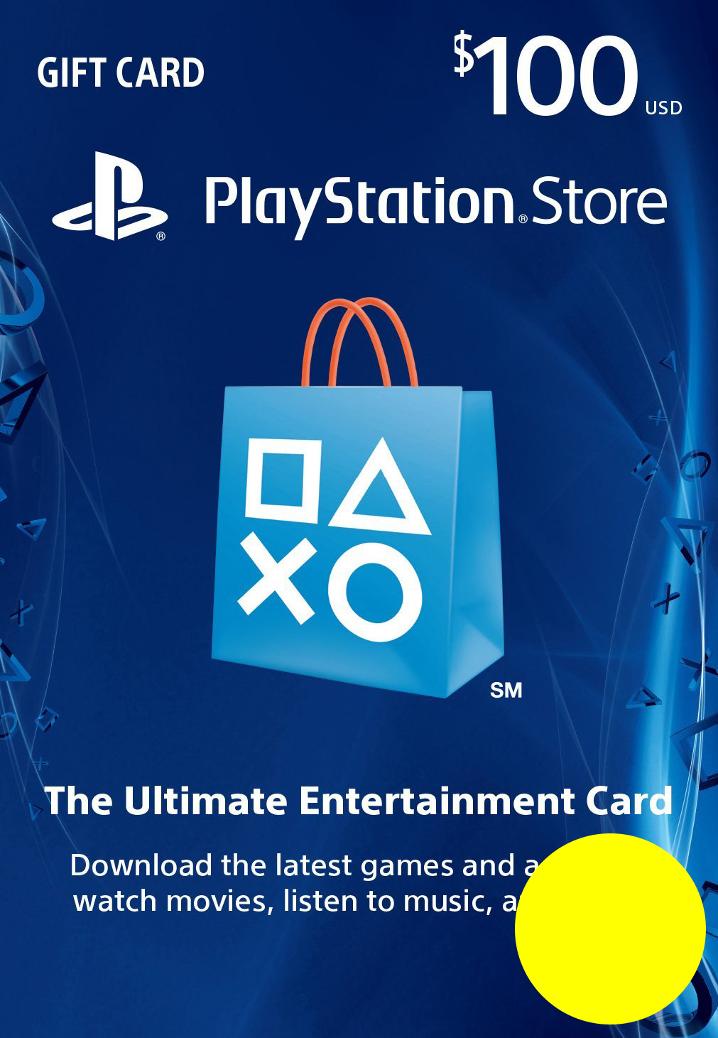 PSN Gift Card Code USA $100 PS4, PS3, PS Vita