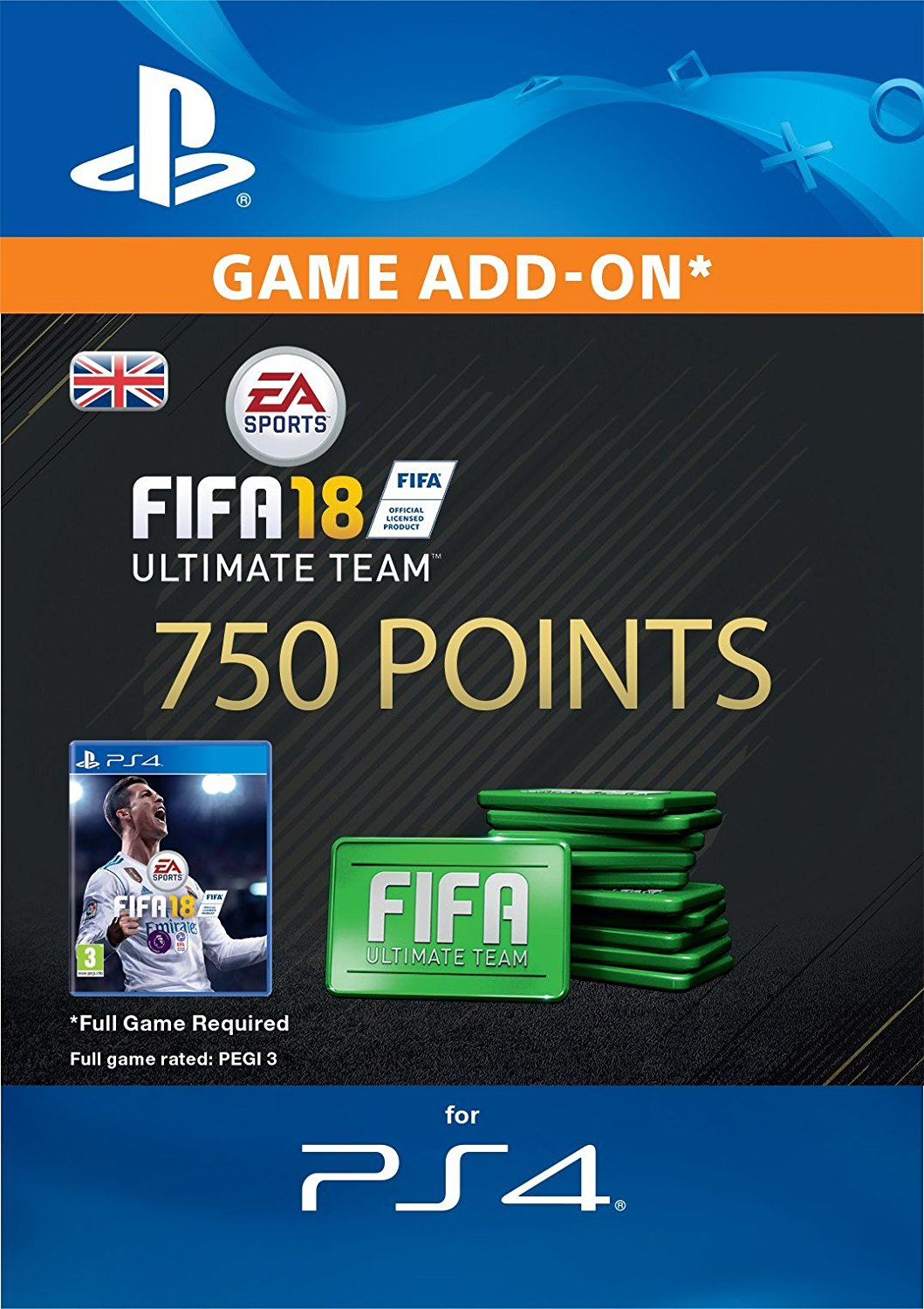 FIFA 18 750 FIFA Points PS4 UK