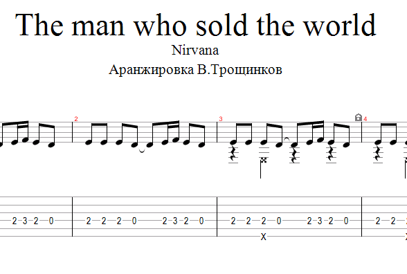 The Man Who Sold The World Tabs 18