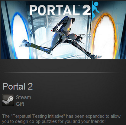 Portal 2 (Steam Gift, ROW) + БОНУС + СКИДКА