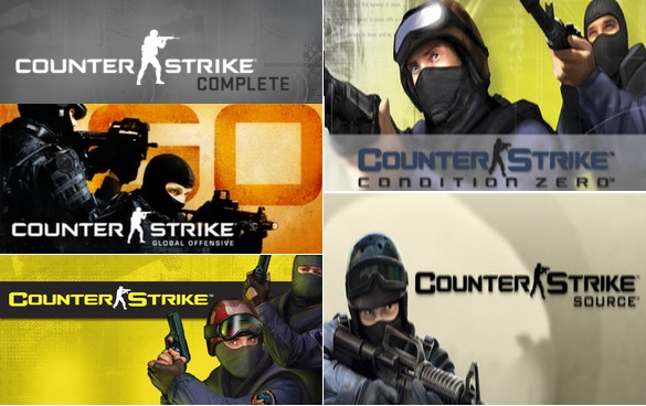Counter-Strike Complete(CS:GO+CS1.6+CSS)(ROW)
