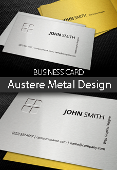 Austere Metal Design Business Card