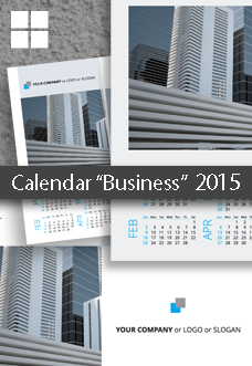 Poster Business Calendar Template 2015 (2014)