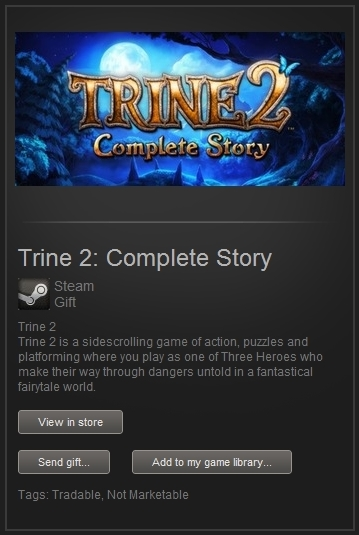 Trine 2: Complete Story (Steam Gift, Worldwide) + БОНУС