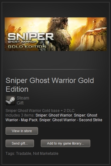 Sniper Ghost Warrior Gold (Steam Gift, Worldwide) +ПРИЗ