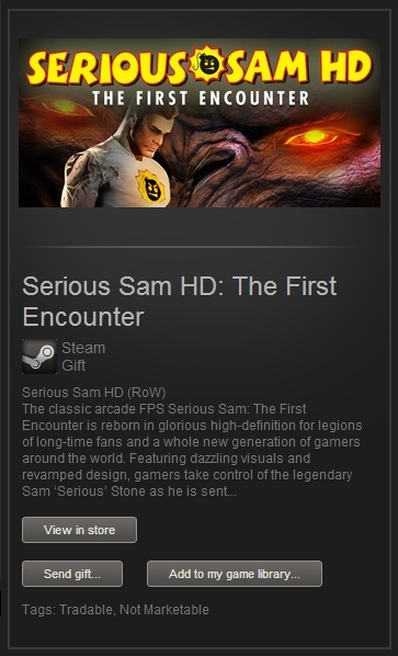 Serious Sam HD: The First Encounter (Steam Gift, World)