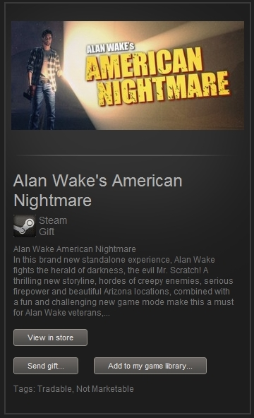 Alan Wake´s American Nightmare (Steam Gift, RegFree)