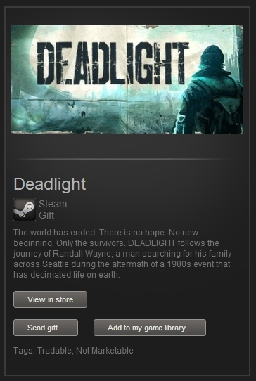 Deadlight (Steam Gift, Region Free) + ПОДАРОК