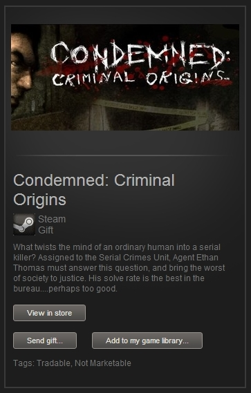 Condemned Criminal Origins (Steam Gift, RegFree) + ПРИЗ