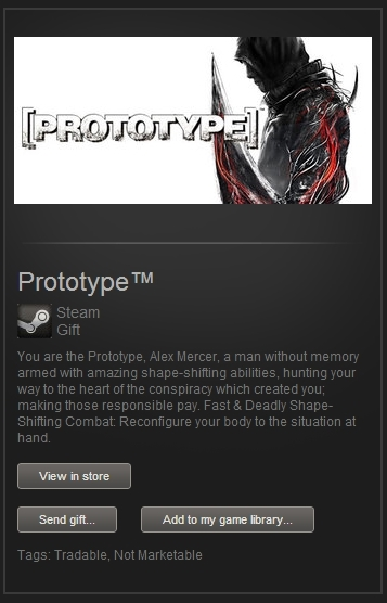 Prototype (Steam Gift, Region Free) + ПОДАРОК