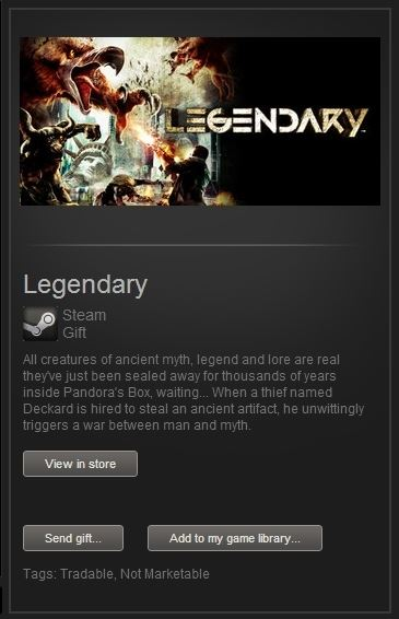 Legendary (Steam Gift, Region Free) + ПОДАРОК