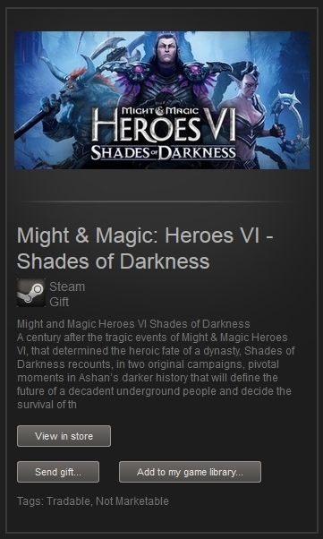 Might & Magic Heroes 6 Shades of Darkness (Steam Gift)