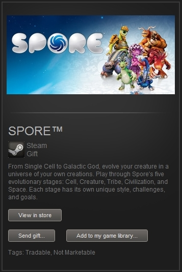 SPORE (Steam Gift, Region Free) + ПОДАРОК