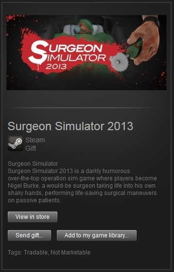 Surgeon Simulator 2013 (Steam Gift, Region Free) + ПРИЗ