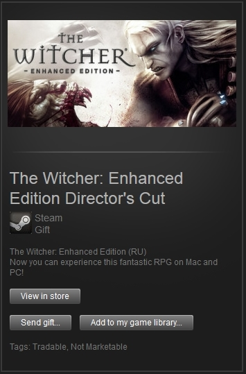 The Witcher Enhanced Edition Director´s Cut (Steam, RU)