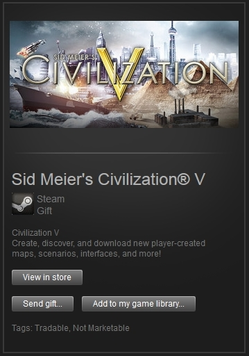 Sid Meier´s Civilization V (Steam Gift, RegFree) + ПРИЗ