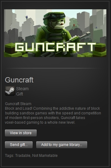 Guncraft (Steam Gift, Region Free) + ПОДАРОК