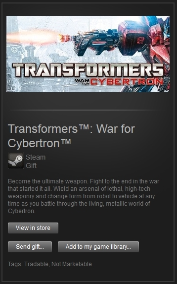 Transformers War for Cybertron (Steam Gift, ROW) + ПРИЗ