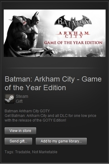Batman: Arkham City GOTY (Steam Gift, ROW) + ПОДАРОК